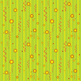 Seamless pattern. Elegant green seamless pattern with stars. Vector Stock Photos