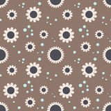 Seamless pattern. With flowers and circles Royalty Free Stock Images