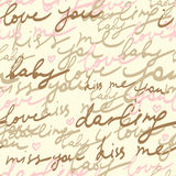 Seamless pattern. Romantic letter - seamless pattern in Royalty Free Stock Image