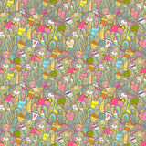 Seamless Pattern About Girl Dreams And Wishes Royalty Free Stock Photos