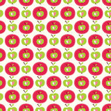 Seamless pattern with abstract  apples Royalty Free Stock Photography