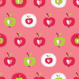 Seamless pattern with abstract  apples Royalty Free Stock Photo