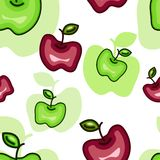 Seamless Pattern with Abstract Apples Royalty Free Stock Images