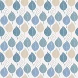 Seamless pattern with abstract autumn leaves in. Blue tones on a light background Stock Photos