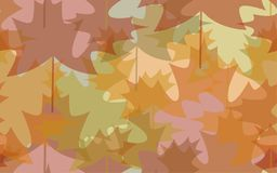 Seamless pattern abstract autumn leaves Stock Photography