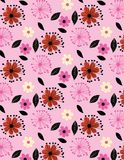 Flower pattern colorful. Seamless pattern abstract background colorful foliage stock illustration