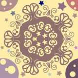 Seamless pattern abstract background. With hearts and stars vector illustration