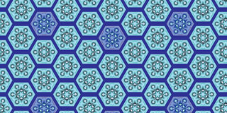 Seamless pattern with abstract blue diamonds Royalty Free Stock Images
