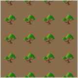 Seamless pattern with abstract bonsai for your design. Royalty Free Stock Photography