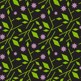 Seamless pattern with abstract branch with flower. Minimalism and scandinavian style. Background design for textile, wrapping paper. eps 10 stock illustration