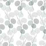 Seamless pattern of abstract  branches. Stock Photo
