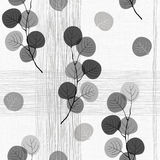 Seamless pattern of abstract  branches. Monochrome  backgr Royalty Free Stock Photo