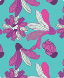 Seamless pattern with abstract calla lily Royalty Free Stock Photos