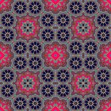 Seamless  pattern with abstract chamomiles - flowers. Royalty Free Stock Photography