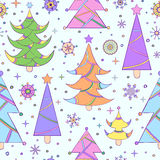 Seamless pattern with abstract christmas tree Royalty Free Stock Photos