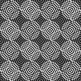 Seamless pattern of abstract circles on a black background. Black and white circles on a black background. The optical pattern Royalty Free Stock Images