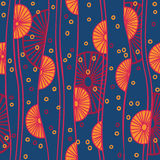 Seamless pattern with abstract circles and lines Stock Images
