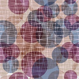 Seamless pattern of abstract colorful balloons under the grid.  Stock Illustration