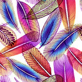 Seamless pattern with abstract colorful feathers. Vector, EPS10. Stock Photos