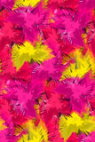Seamless pattern with abstract colorful flowers. Royalty Free Stock Photography