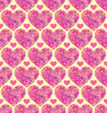 Seamless pattern with abstract colorful hearts Royalty Free Stock Photos