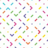 Seamless pattern with abstract colorful ornament Stock Photo