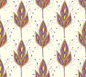 Seamless pattern with abstract colorfull leaves Stock Photo