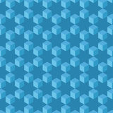Seamless pattern abstract. Cubes and stars backgro Royalty Free Stock Photos