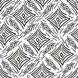 Seamless pattern abstract diamonds and stripes Royalty Free Stock Photos