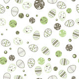 Seamless pattern from abstract easter eggs on white background. Vector illustration Royalty Free Stock Photos