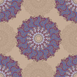 Seamless pattern with abstract elements, damask tiles Royalty Free Stock Image
