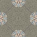 Seamless pattern with abstract elements, damask tiles Royalty Free Stock Images