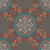 Seamless pattern with abstract elements, damask tiles Stock Photos