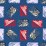 Seamless pattern with abstract elements. Stock Image