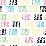 Seamless pattern with abstract elements. Stock Photos