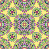 Seamless pattern from abstract elements. In ethnic style Stock Photos