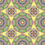 Seamless pattern from abstract elements. In ethnic style Royalty Free Stock Photo