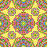 Seamless pattern from abstract elements. In ethnic style Stock Photo