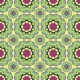 Seamless pattern from abstract elements. In ethnic style Royalty Free Stock Images