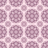 Seamless pattern from abstract elements in ethnic style. Vintage Stock Image