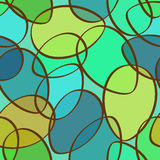 Seamless pattern of abstract ellipses Royalty Free Stock Photo