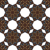 Seamless pattern with abstract ethnic elements Stock Photography