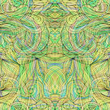 Seamless pattern with abstract feathers Vector 6 Royalty Free Stock Photos