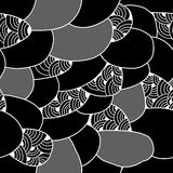 Seamless pattern with abstract figures. Monochrome series Royalty Free Stock Photo