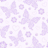 Seamless pattern with abstract floral butterfly Royalty Free Stock Image