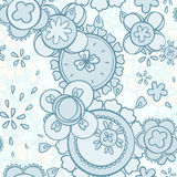 Seamless pattern abstract floral design Royalty Free Stock Photos