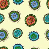 Seamless pattern  with abstract flower. Seamless pattern  with flower for box and other Stock Photo