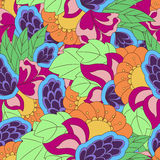 Seamless pattern with abstract flower elements. Colorful Stock Images
