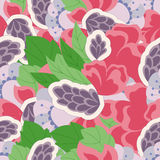 Seamless pattern with abstract flower elements. Vintage Stock Photos