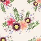 Seamless pattern with abstract flower elements. Vintage Stock Photography